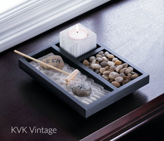 Tabletop Zen Garden - Zen Garden - Religious - Sanctuary - Home Decor - Spirituality - Meditation - Zen - Religion - Yoga - Meditate