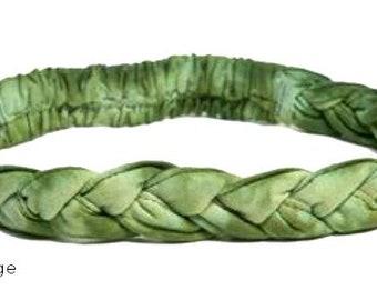 Green Tie Dye Braided Headband - Boho Headband - Bohemian Headband - Headbands for Women - Hippie Headband