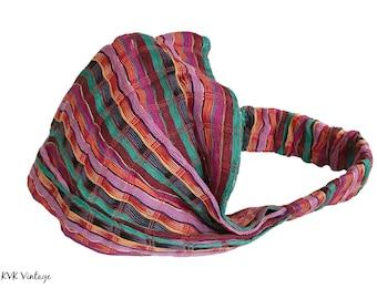 Guatemalan Multi Color Striped Headband #3 - Boho Headband - Bohemian Headband - Headbands for Women - Hippie Headband