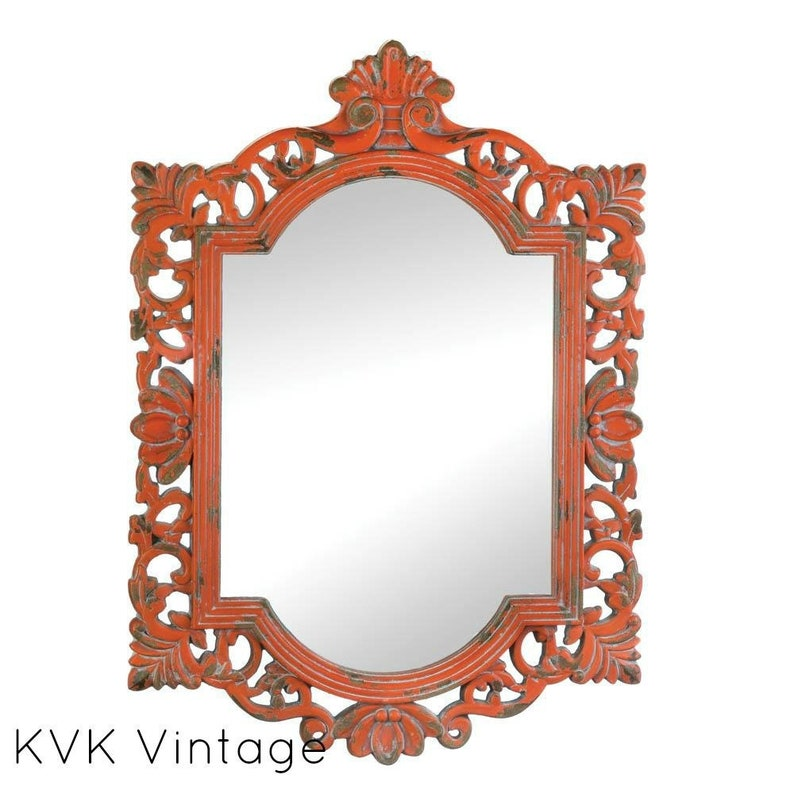 Vintage Coral Mirror Decorative Mirror Home Decor Home Etsy
