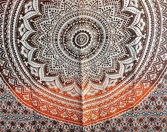 Mandala Tapestry Throw Blanket - Wall Hanging - Bohemian Tapestry - Boho Wall Decor