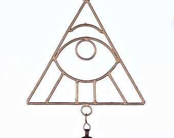 All Seeing Eye Chime - Wind Chimes - Garden Decoration - Fair Trade