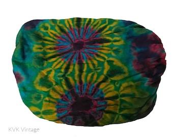 Turquoise Tie Dye Thai Headwrap - Boho Headband - Bohemian Headband - Headbands for Women - Hippie Headband