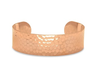 Hammered Solid Copper Cuff Bracelet 19mm - Boho Bracelet - Copper Jewelry - Bohemian Jewelry