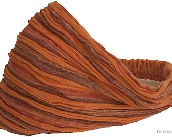 Orange Striped Headband - Boho Headband - Bohemian Headband - Headbands for Women - Hippie Headband