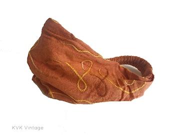 Orange Swirl Headband - Boho Headband - Bohemian Headband - Headbands for Women - Hippie Headband