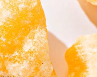 Orange Calcite Crystal - Rough Orange Calcite - Raw Orange Calcite - Metaphysical Crystals - Calcite Chunk