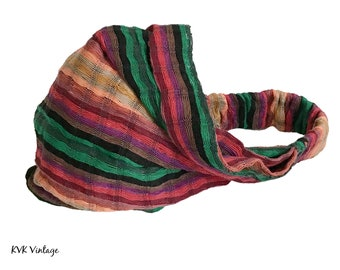 Guatemalan Multi Color Striped Headband #2 - Boho Headband - Bohemian Headband - Headbands for Women - Hippie Headband