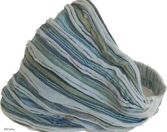 Light Blue Striped Headband - Boho Headband - Bohemian Headband - Headbands for Women - Hippie Headband