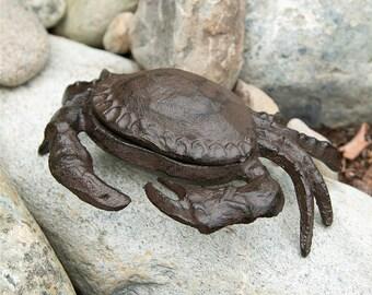 Cast Iron Crab Key Holder - Garden Decoration - Crab Key Hider - Animal Key Holder - Home Décor
