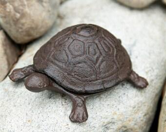 Cast Iron Turtle Key Holder - Animal Key Holder - Key Hider - Home Decor
