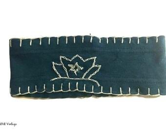 Aqua Blue Lotus Flower Headband - Boho Headband - Bohemian Headband - Headbands for Women - Wide Headband