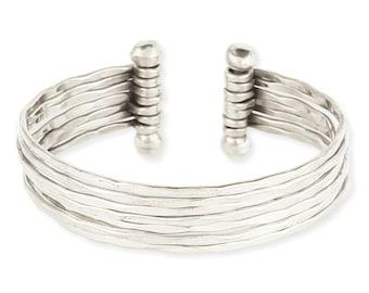 Thin Hammered Silver Cuff Bracelet - Boho Bracelet - Cuff Bracelet - Bohemian Jewelry