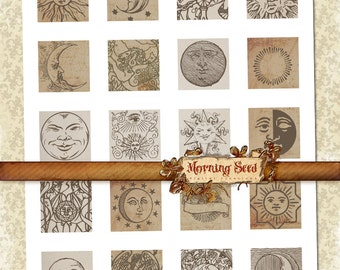 Esoteric Labels Holistic Clipart 15 X 15in Shabby Zodiac Printable Template Tag Sticker Decoupage Digital Graphics