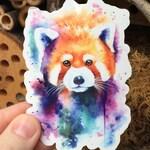 Watercolor Red Panda Die Cut Sticker | Red Panda Sticker, Red Panda, Panda Watercolor, Panda, Watercolor, Art Sticker, Die Cut Sticker, Art