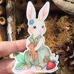 Watercolor Kaylee Bunny Sticker | Kaylee Frye, Firefly, Firefly Sticker, Serenity, Serenity Sticker, Watercolor Sticker, Bunny, Rabbit