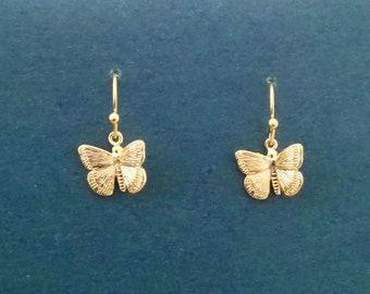 Butterfly earrings, Gold earrings, Silver earrings, Beautiful earrings, Modern earrings, Sexy earrings, Mother in law gift, Sister gift