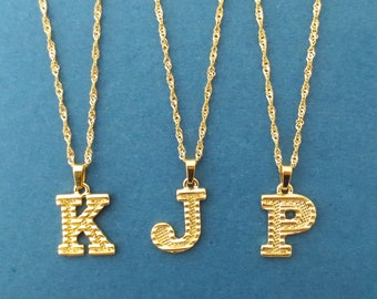 Personalized necklace Capital letter neckace Initial necklace Medellion adjustable necklace Gold stainless steel necklace Mom gift