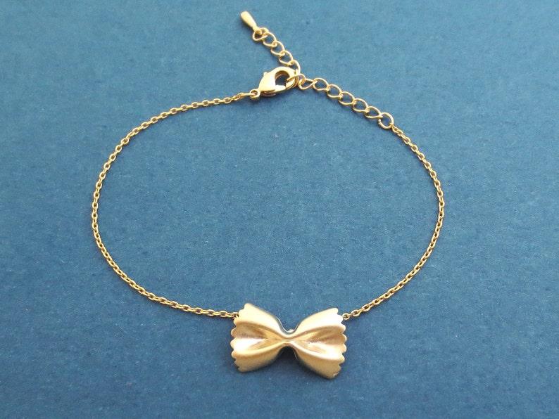 Pasta bracelet Farfalle bracelet Ribbon bracelet Cute gift image 0