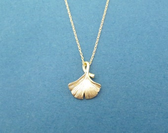 Ginko Necklace Gold Necklace Silver Necklace Dainty Necklace Charm Necklace Teacher appreciation gift Valentines gift Gift for her