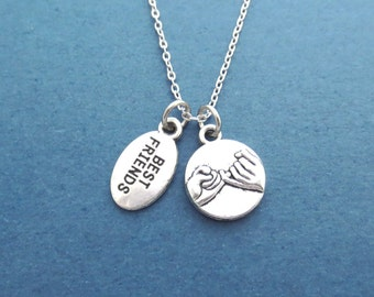 Pinky, Promise, BEST FRIENDS, Silver, Necklace, Birthday, Friendship, Best friends, Gift, Accessories, Jewelry