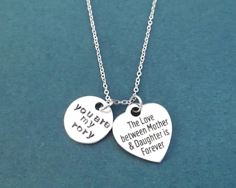 The Lover between Mother & Daughter is Forever necklace, You are my rory necklace, Gift for mom, Gift for daughter, Gift for children