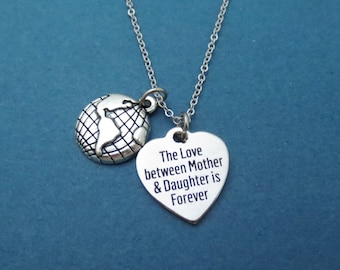 The Love between Mother & Daughter is Forever, Mother Necklace, Mom Necklace, Daughter Necklace, Mother's day gift, Mom Daughter Gift