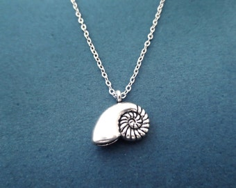 Mermaid, Seashell, Ariel, Silver, Necklace, Antique, Shell, Necklace, Birthday, Lovers, Best friends, Sister, Gift, Jewelry