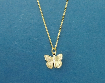Butterfly necklace Gold necklace Silver necklace Charm necklace Gift idea New mom gift Graduation gift Sister gift