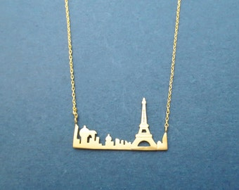 My Petit Paris, The Eiffel Tower, Gold, Silver, Necklace, Birthday, Best friends, Sister, Gift, Jewelry