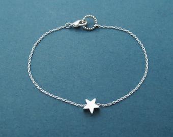 Mini, Star, Gold, Silver, Bracelet, Tiny, Star, Jewelry, Modern, Minimal, Dainty, Birthday, Best friend, Sister, Gift, Jewelry