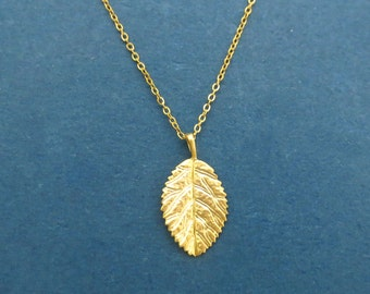 Golden Leaf necklace Nature leaf necklace Gold Silver necklace Anniversary gift Birthday gift Housewarming gift Friend gift