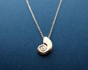 Ariel voice necklace, Seashell necklace, Gold necklace, Mermaid necklace, Birthday present, Valentine's day present, Graduation present