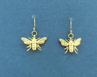 Bee Earrings,Bee Jewelry,Honey Bee Earrings,Bee Jewellery,Bee,Gold Bee Earrings,Silver Bee Earrings,Save the Bees,Bumble Bee Earrings,Insect