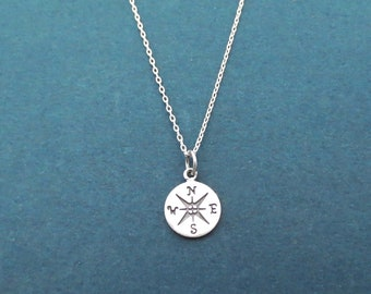 Compass, Sterling silver, Necklace, Birthday, Best friends, Friendship, Sister, New year, Gift, Jewellery