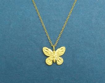 Butterfly Necklace,Gold Butterfly,Butterfly Jewlery,Gold Necklace,Butterfly,Butterfly Pendant,Dainty Necklace,Necklace,Gold,Butterfly Charm