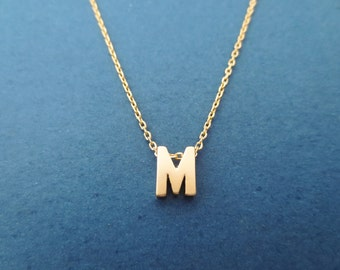 Personalized necklace Initial necklace Letter necklace Alphabet necklace Capital letter necklace Upper case letter necklace Gift for her