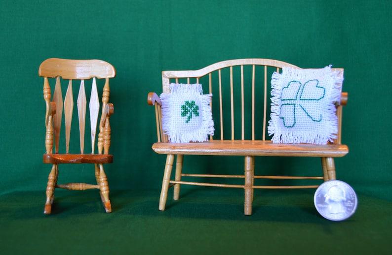 Patrick/'s Day Pillows Set of Two Irish Dollhouse Miniature St