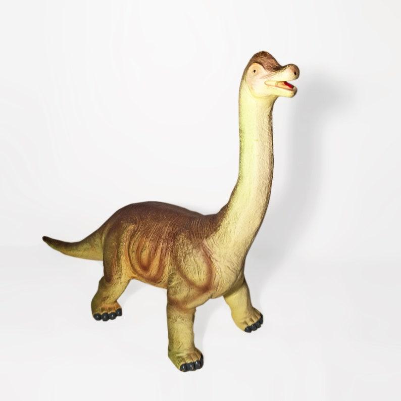 Vintage Brachiosaurus 20 Dinosaur Figure Soft Rubber PVC Large 1990s Retro Collectible Jurassic Prehistoric Toy Display Model Figurine