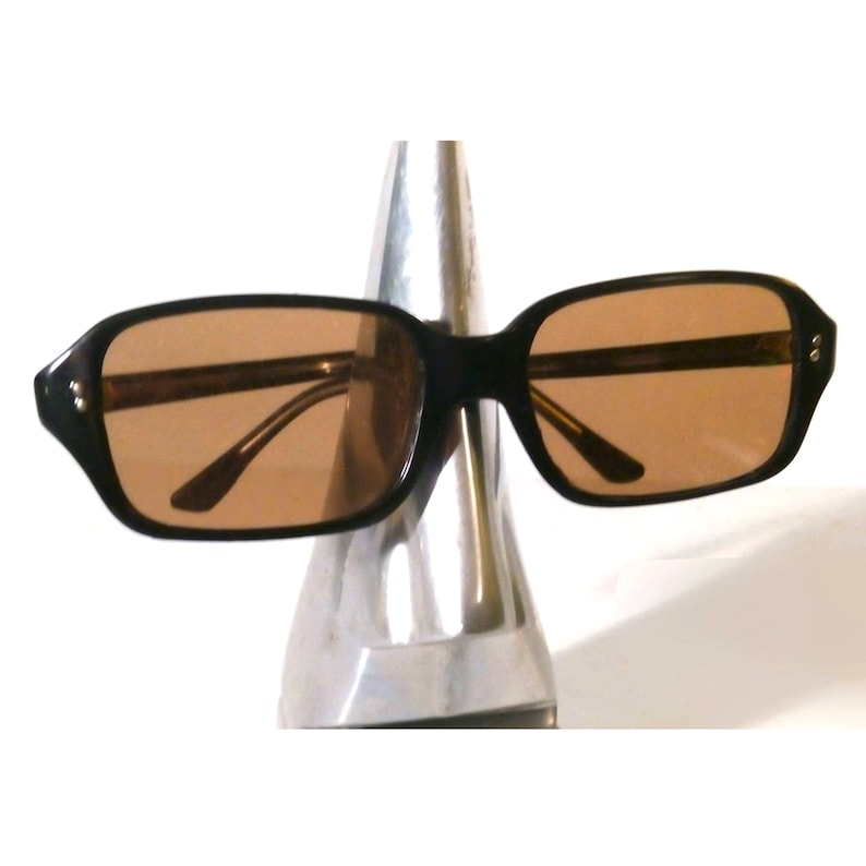 Vintage Unisex Spectacle 60s French UV Filter Children/'s Kids Sunglasses 1950s Unsold Stock Sunnies Black Acrylic Retro Glasses Frames