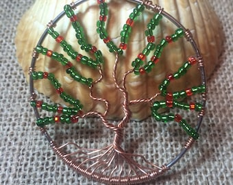 Apple Tree Of Life necklace, wire tree of life, tree necklace, cherry tree necklace, tree of life jewelry, tree of life, apple necklace