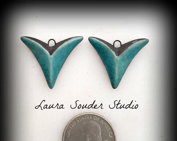 "Raku Fired ""Arrow"" Earring Pair"