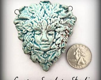 Necklace Pendant,Raku Jewelry,Raku Pendant,Raku Tree Nymph,Goddess Jewelry, Ceramic Jewelry,Handmade Jewelry,Boho,Gift for Artist, Gift Her