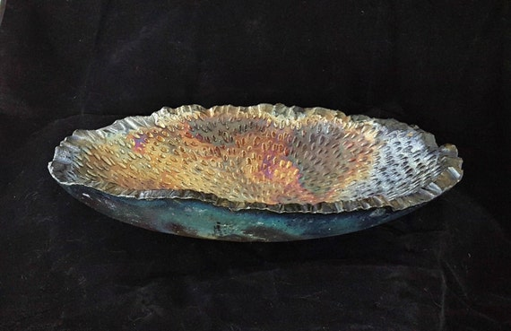 Bowl Ceramic Raku Vessel Home Decor Clay Abstract Sculpture Organic Bowl Gift For Her Gift For Him Graduation Fathers Day Gift Housewarming
