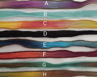 Silk Ribbons Hand Dyed Silk Ombre Necklace Yoga Bracelet Closure Clasp Boho Chic Bohemian Gift for Women Gift for Artist Gift forTeacher