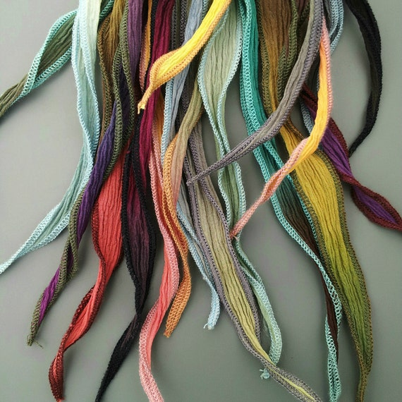 Hand Dyed Silk Ribbons with custom fit closures