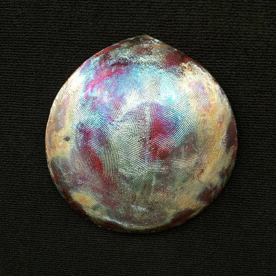 "Raku Fired ""Textured Teardrop"" Wall Art"