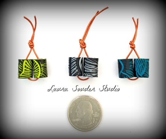 "Handcrafted Polymer ""Accent Bead"" Pairs"