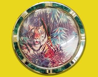 Vintage Retro Tiger Clock