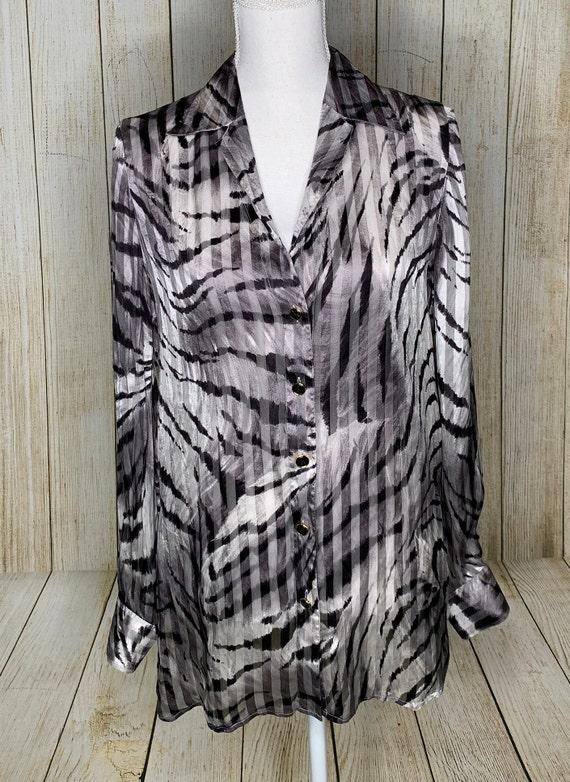 Vintage Escada Zebra Print Blouse